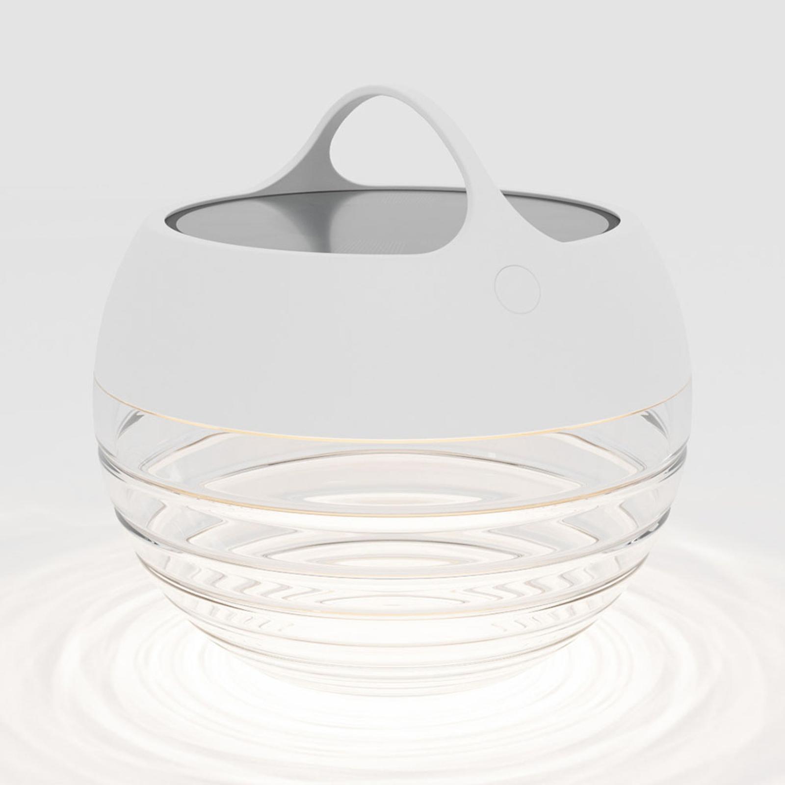 IP44.de aqu S lampa solarna LED, 23 cm biała