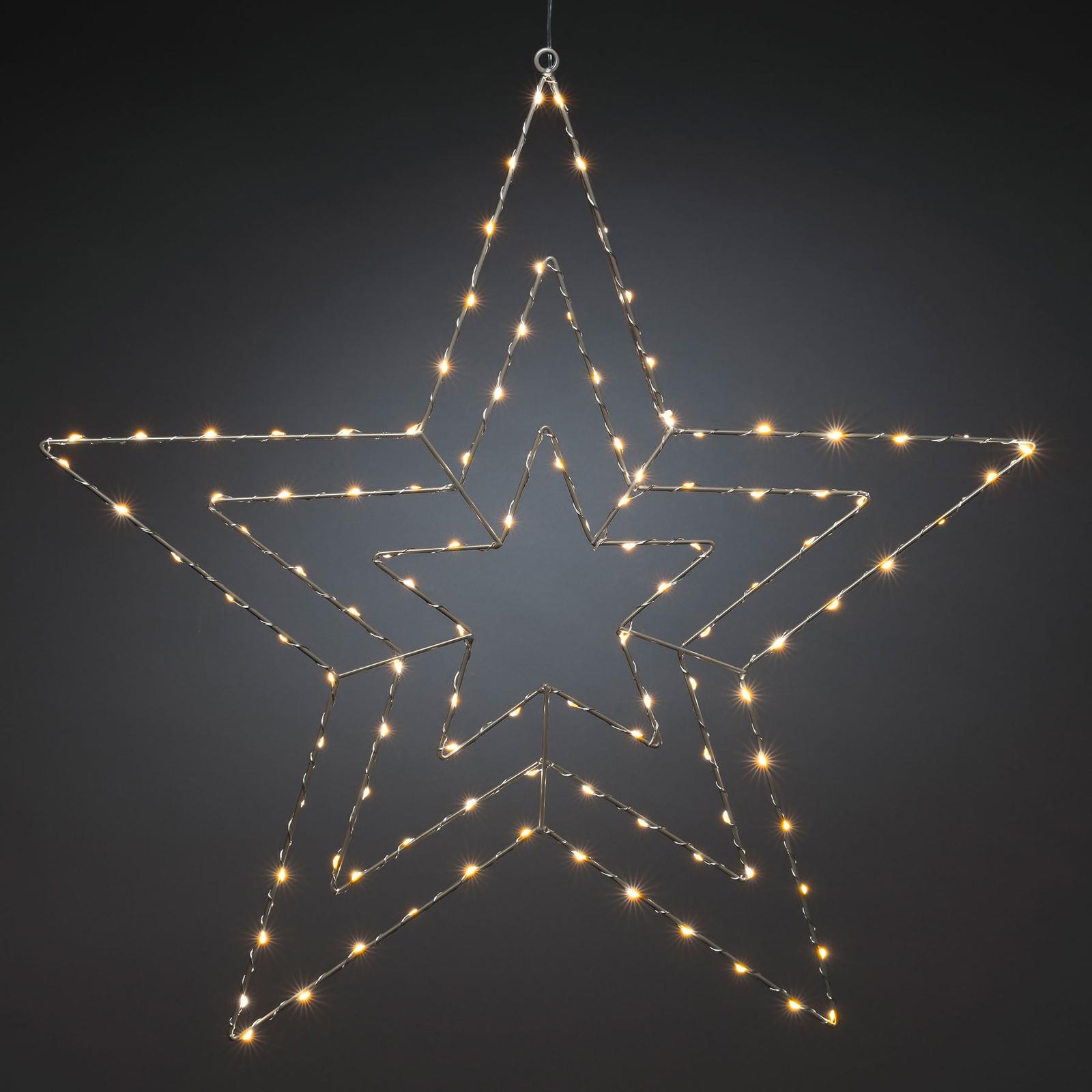 Läs mer om LED-dekorbelysning silverstjärna 66x64 cm