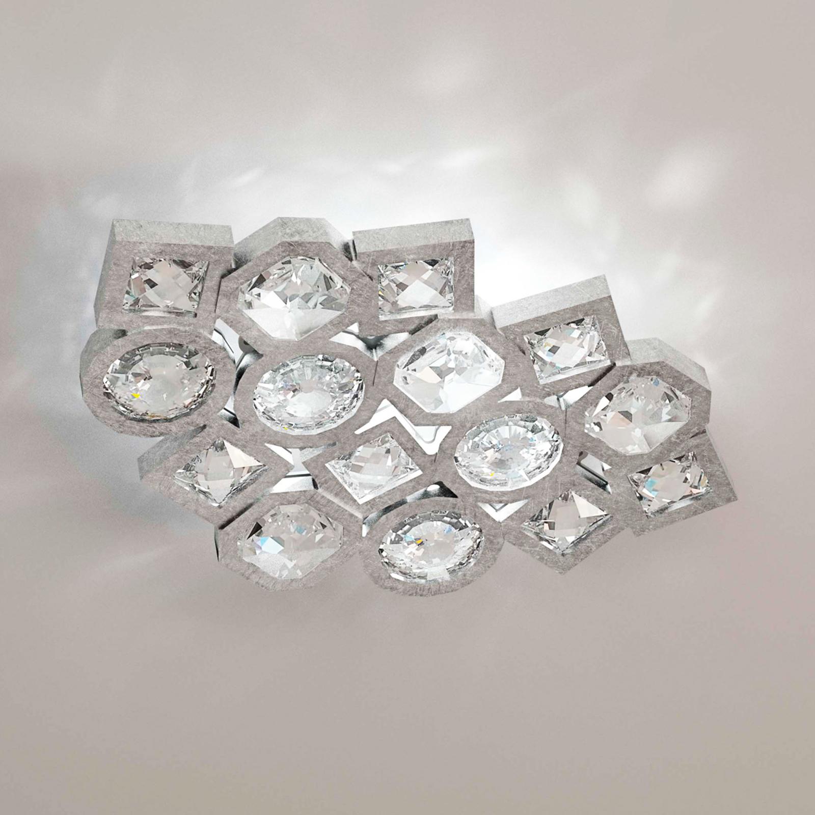 Mosaik-LED-Wandleuchte Stardust in Silber