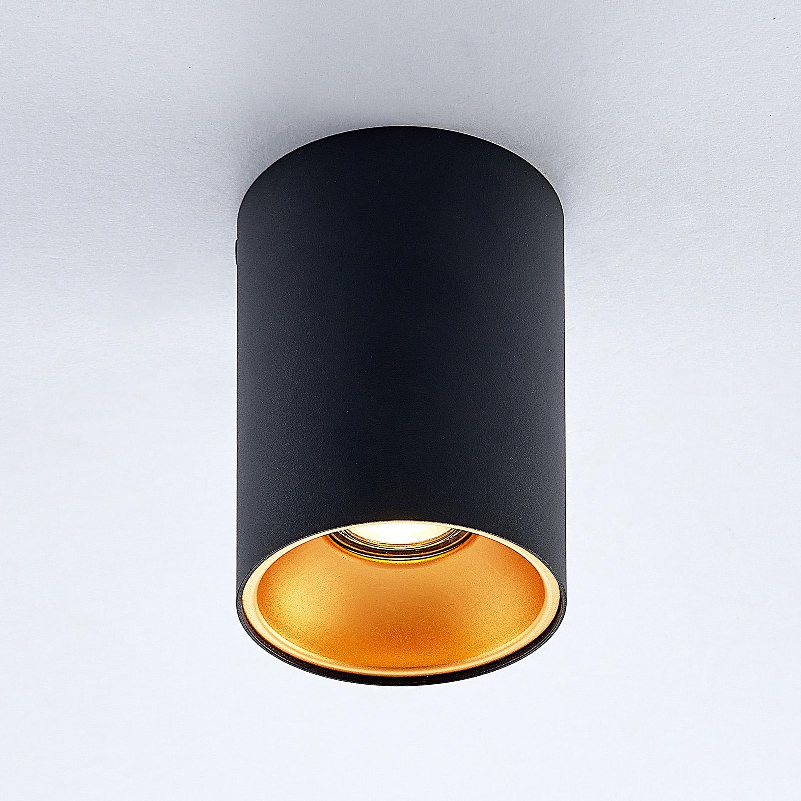 ELC Maylou downlight, rond, noir-doré, GU10