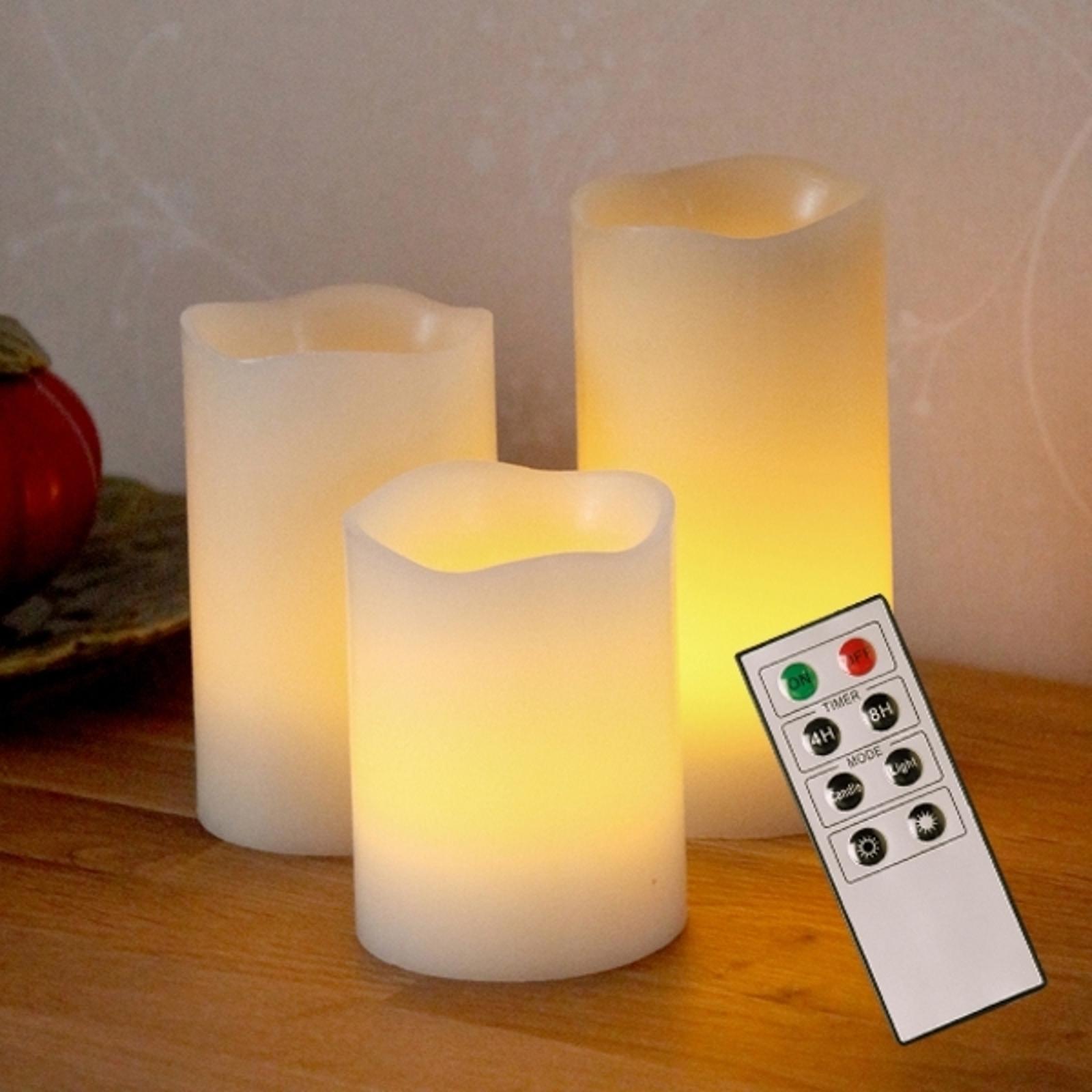 LED- Dekokerzen Candle Wax aus Wachs