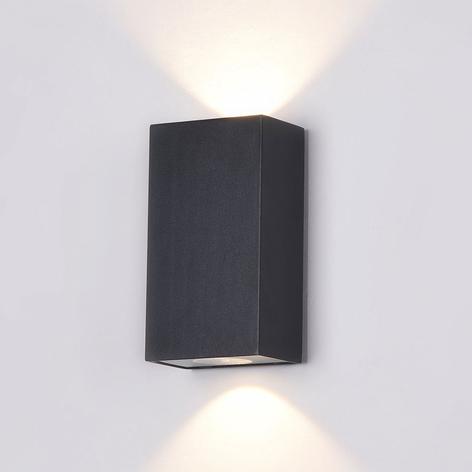 Times Square udendørs væglampe, 9 x 16 cm, sort