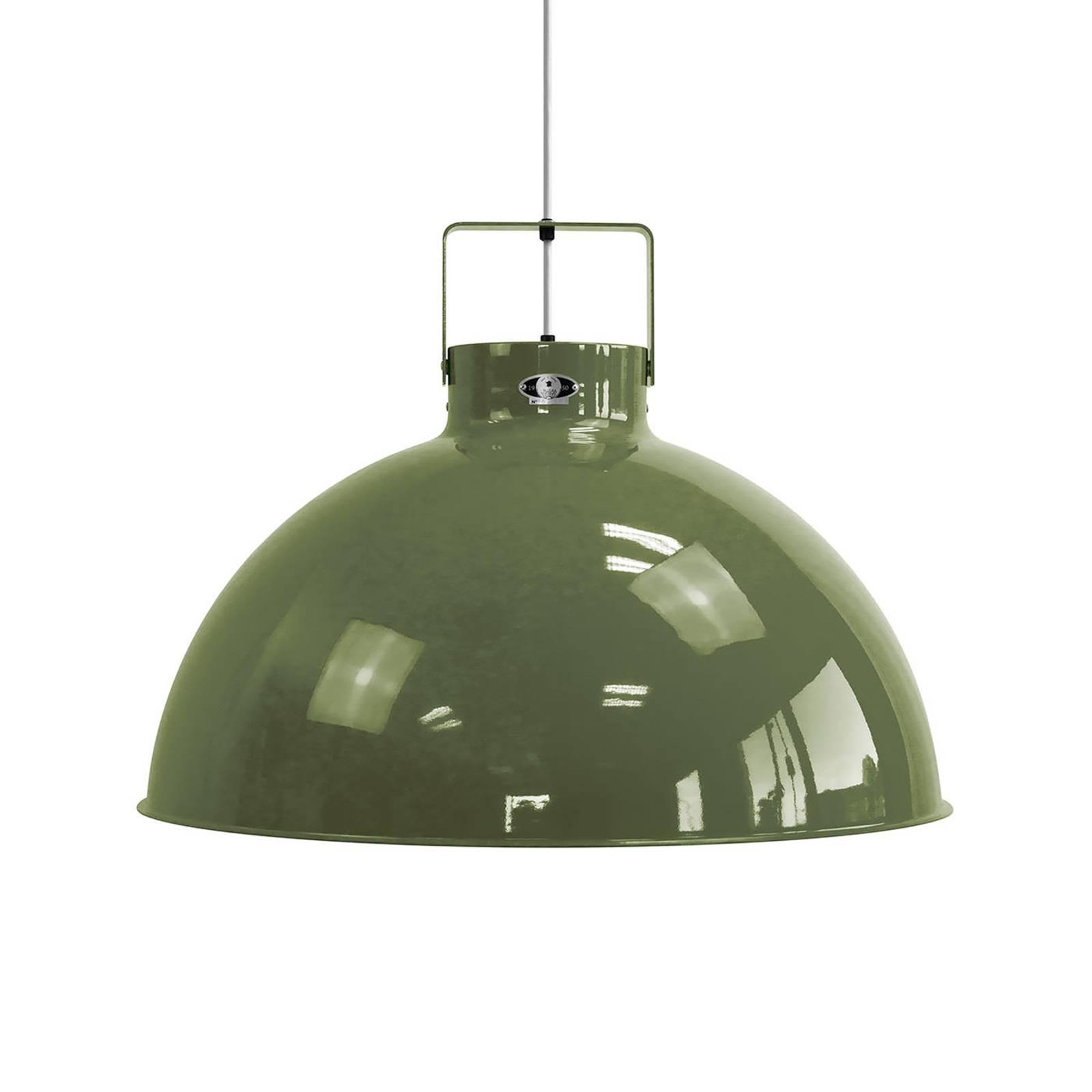 Jieldé Dante D675 hanglamp, olijfgroen, Ø 67,5cm