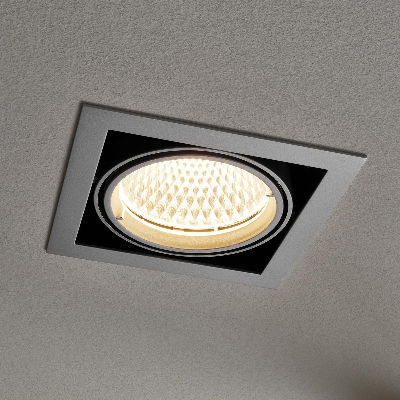 Arcchio Adin LED-Einbaulampe, 3.000K, 25,9W, grau