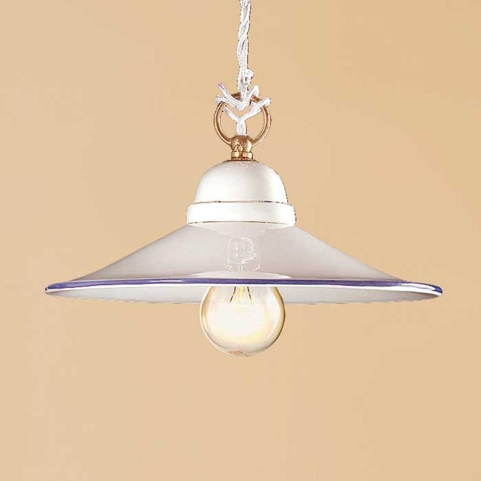 Smuk hængelampe PIATTO i keramik, 28 cm