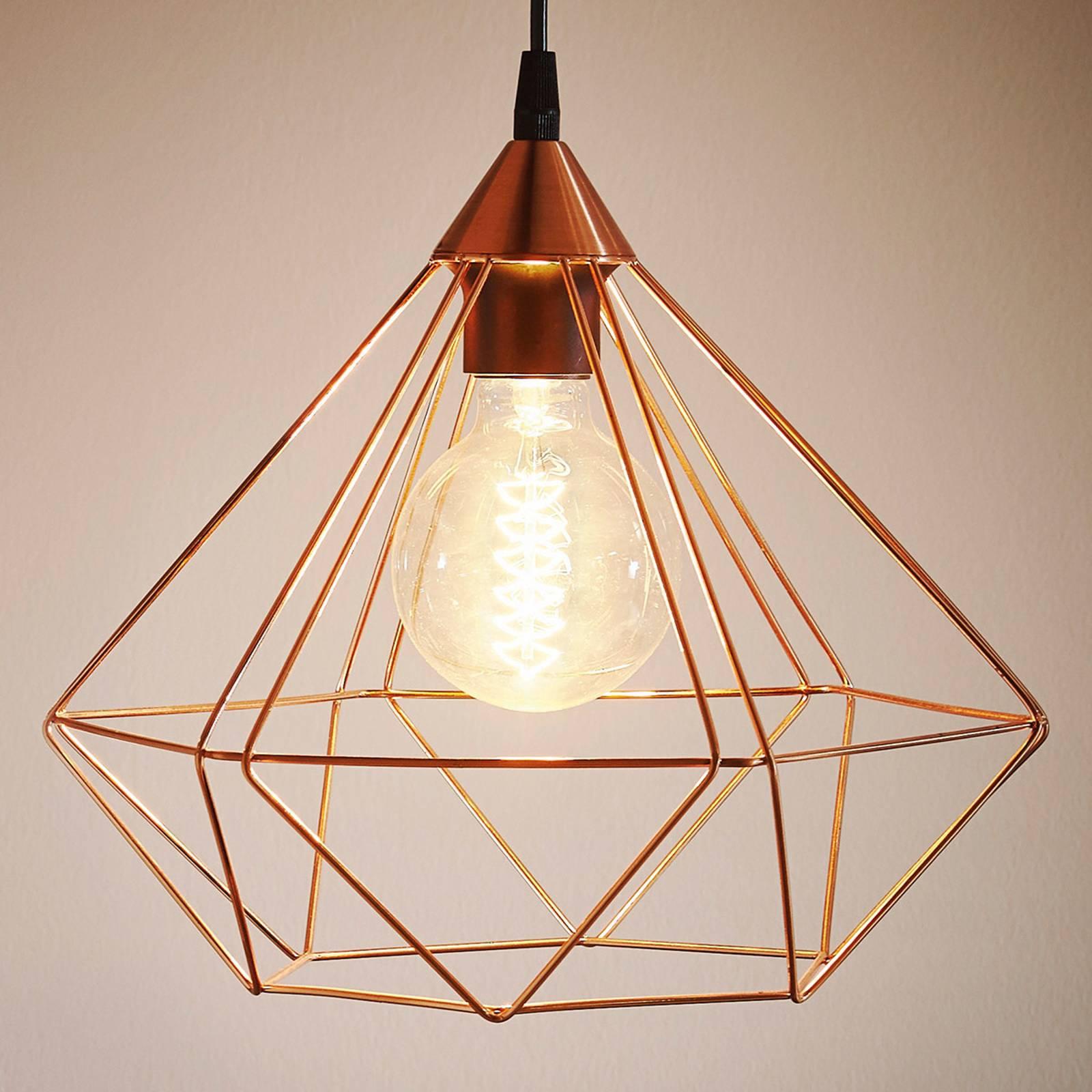 Lampa wisząca Tarbes, 1-punktowa, 32,5cm, miedź
