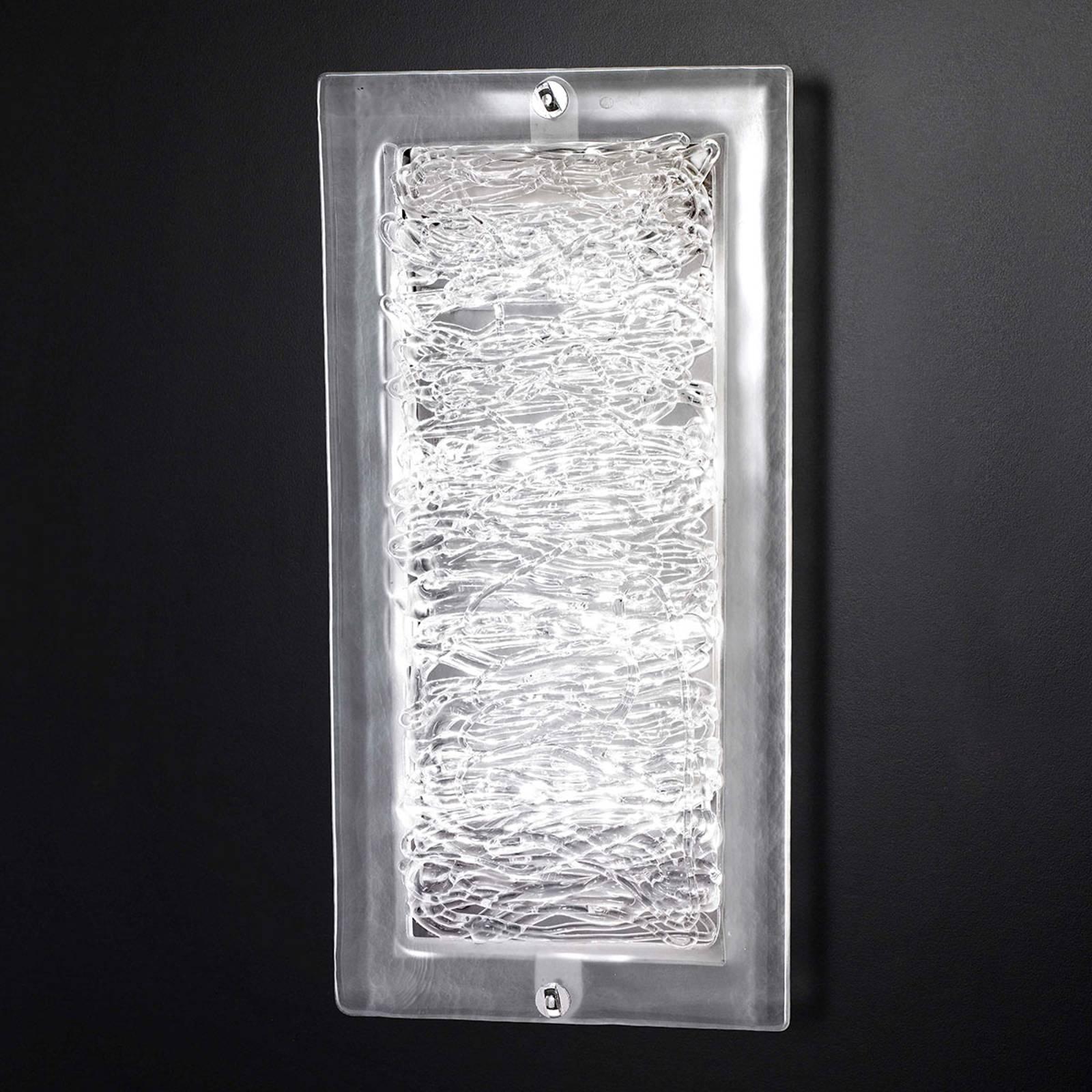Glas-Wandleuchte Mary 20x40 cm