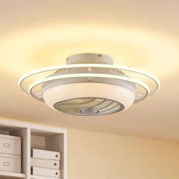 Lindby Ilvie ventilador de techo LED, blanco