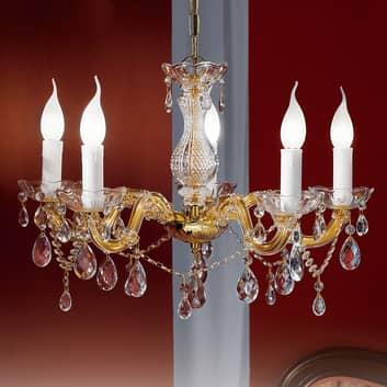 Dolores-kattokruunu kristalleilla, 5-lamppuinen