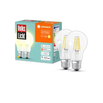 LEDVANCE SMART+ Bluetooth E27 6W Filament dim 2er