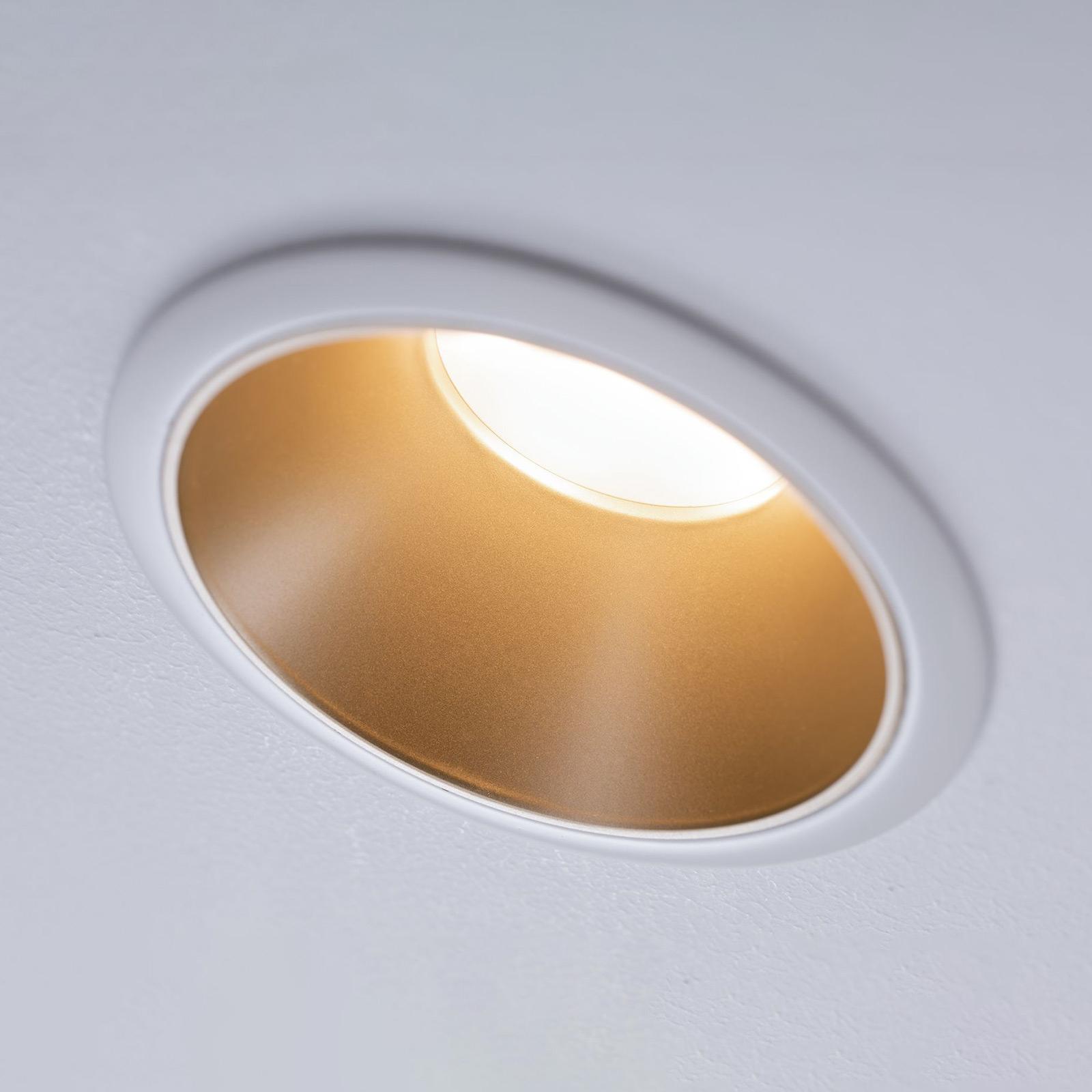 Paulmann Cole LED-spot, gull-hvit