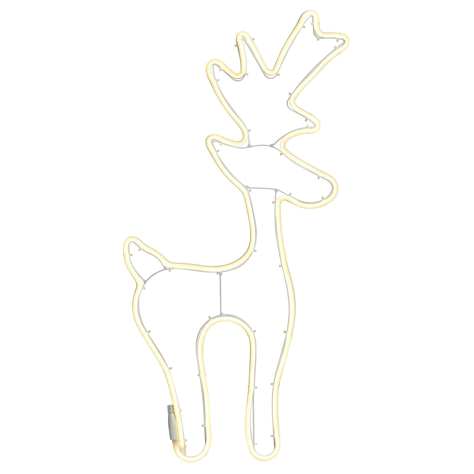Utendørs LED-dekorasjonsfigur Neonflex hjort 2D