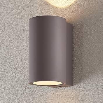 LED-utomhusvägglampa Katalia betong, 2 ljuskällor