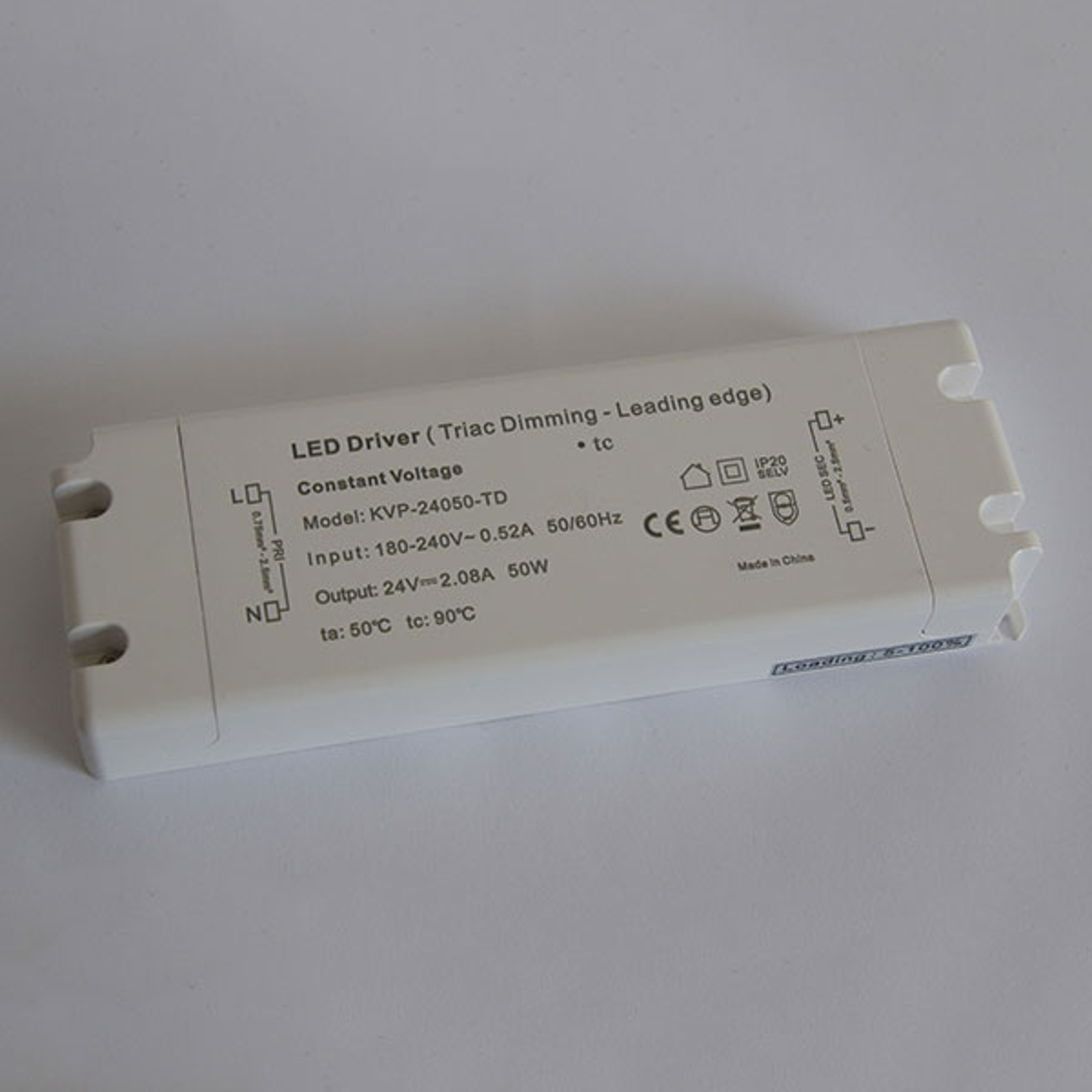Alimentatore TRIAC dimming IP20 LED 50W