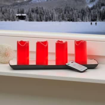 Set di 4 candele LED Candle, telecomando