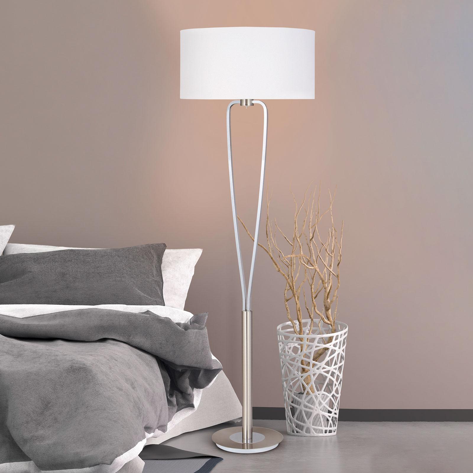 Prachtige vloerlamp PARIS in nikkel