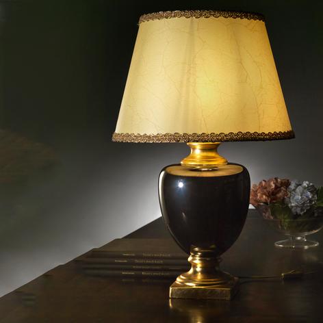 Lámpara de mesa Mozart en negro/oro