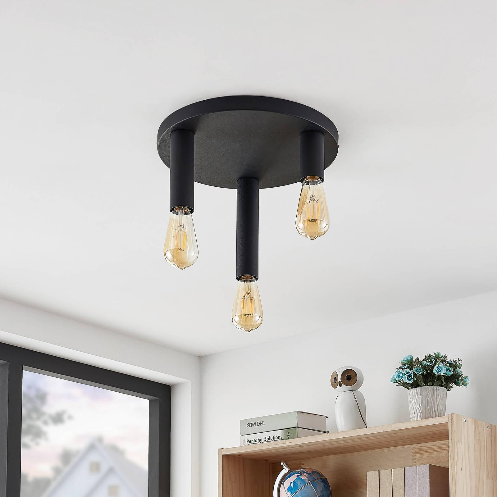Lindby Belana lampa sufitowa okrągła, 3-punktowa