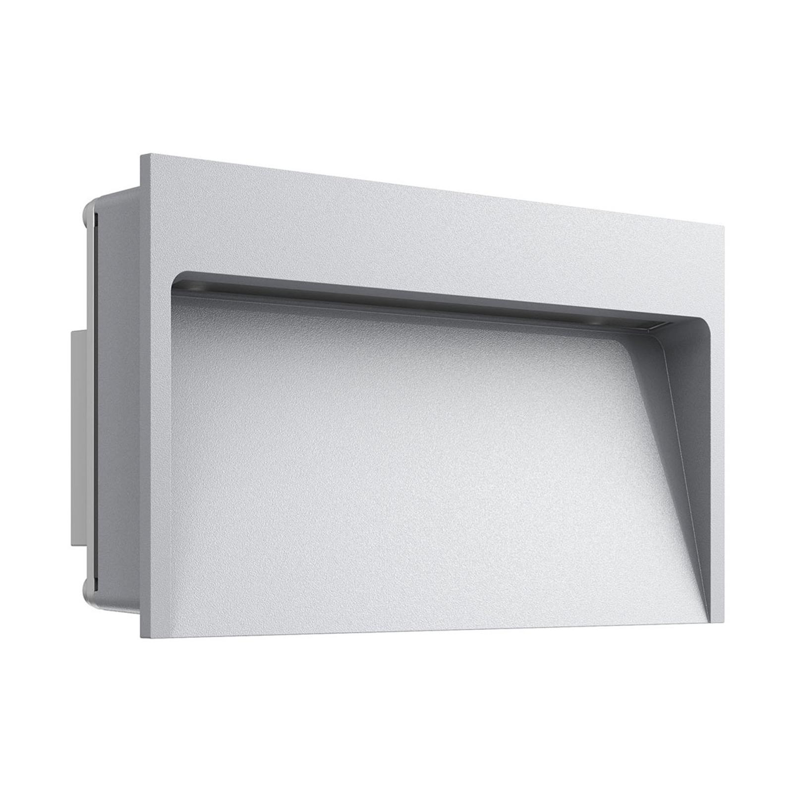 Bred LED vægindbygningslampe My Way, grå