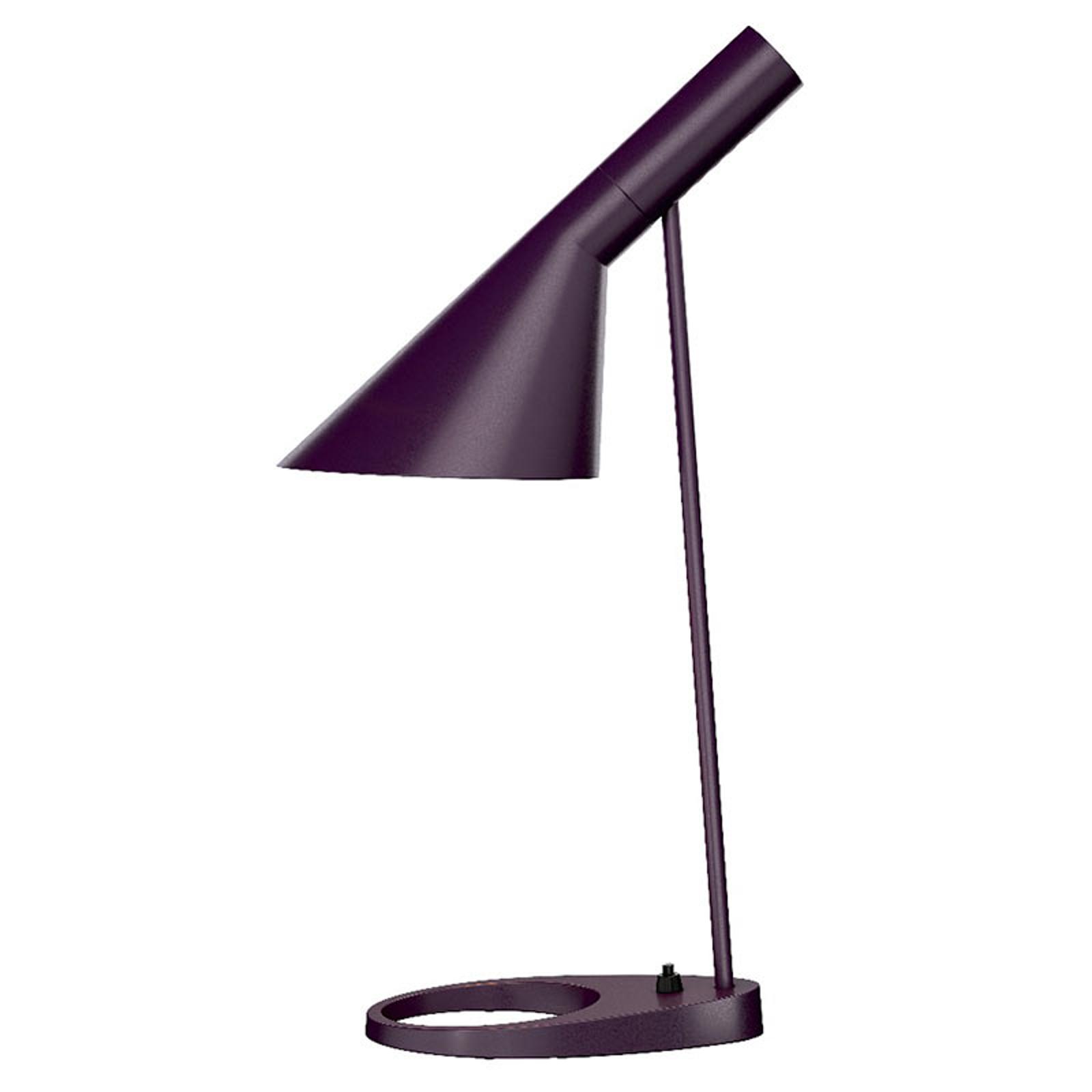 Louis Poulsen AJ - designer tafellamp aubergine