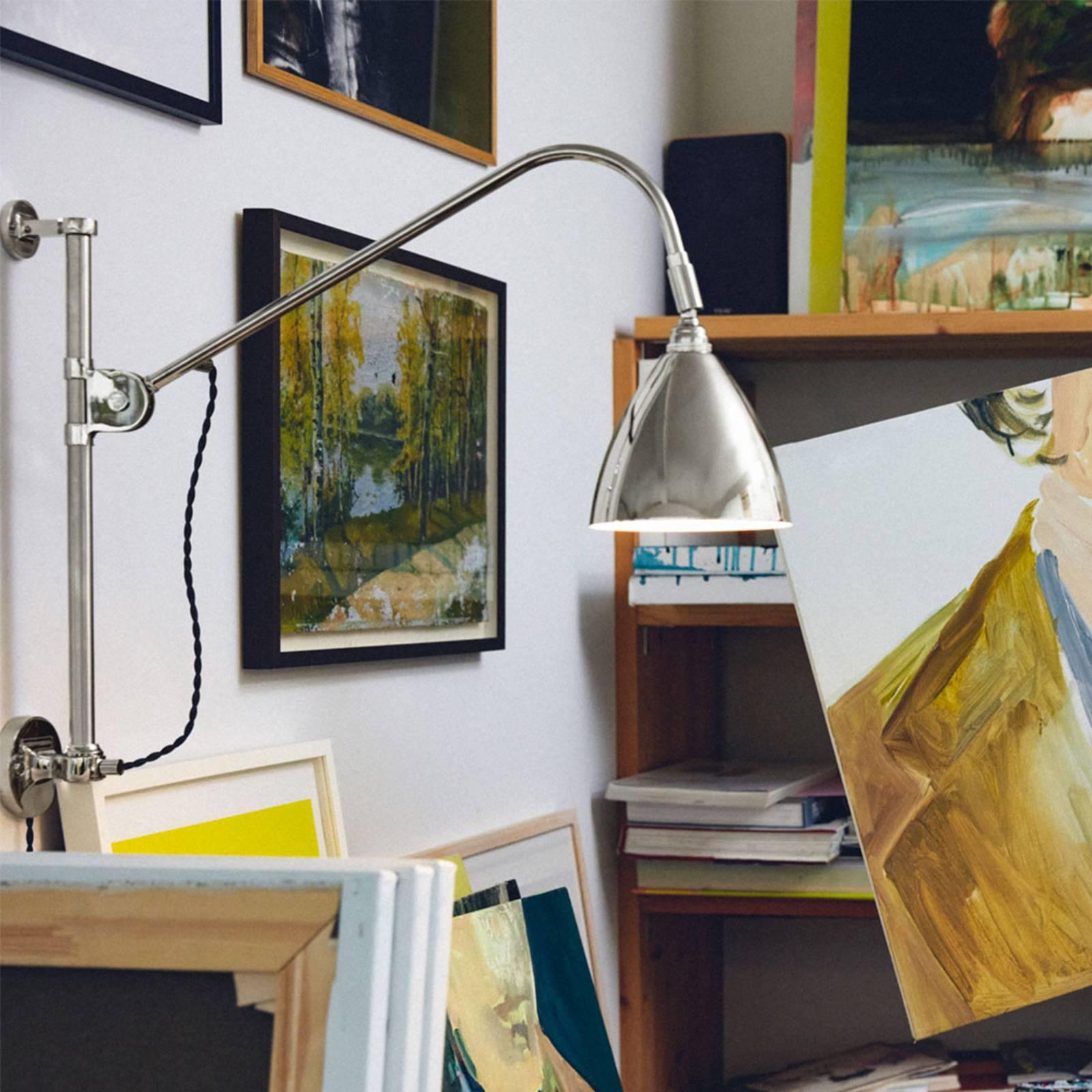 GUBI Bestlite BL5 wandlamp, gelimiteerd, nikkel