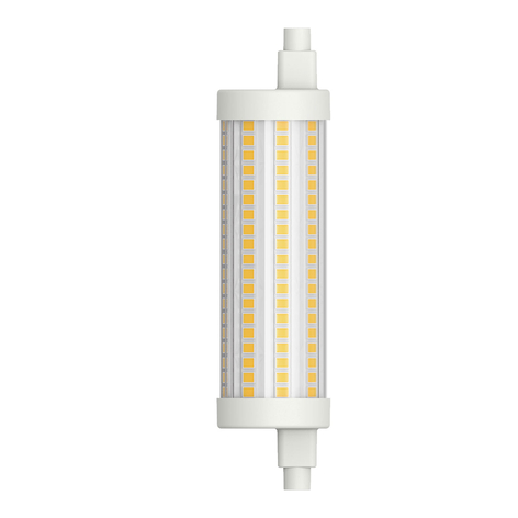 LED-Stablampe R7s 117,6 mm 15W warmweiß