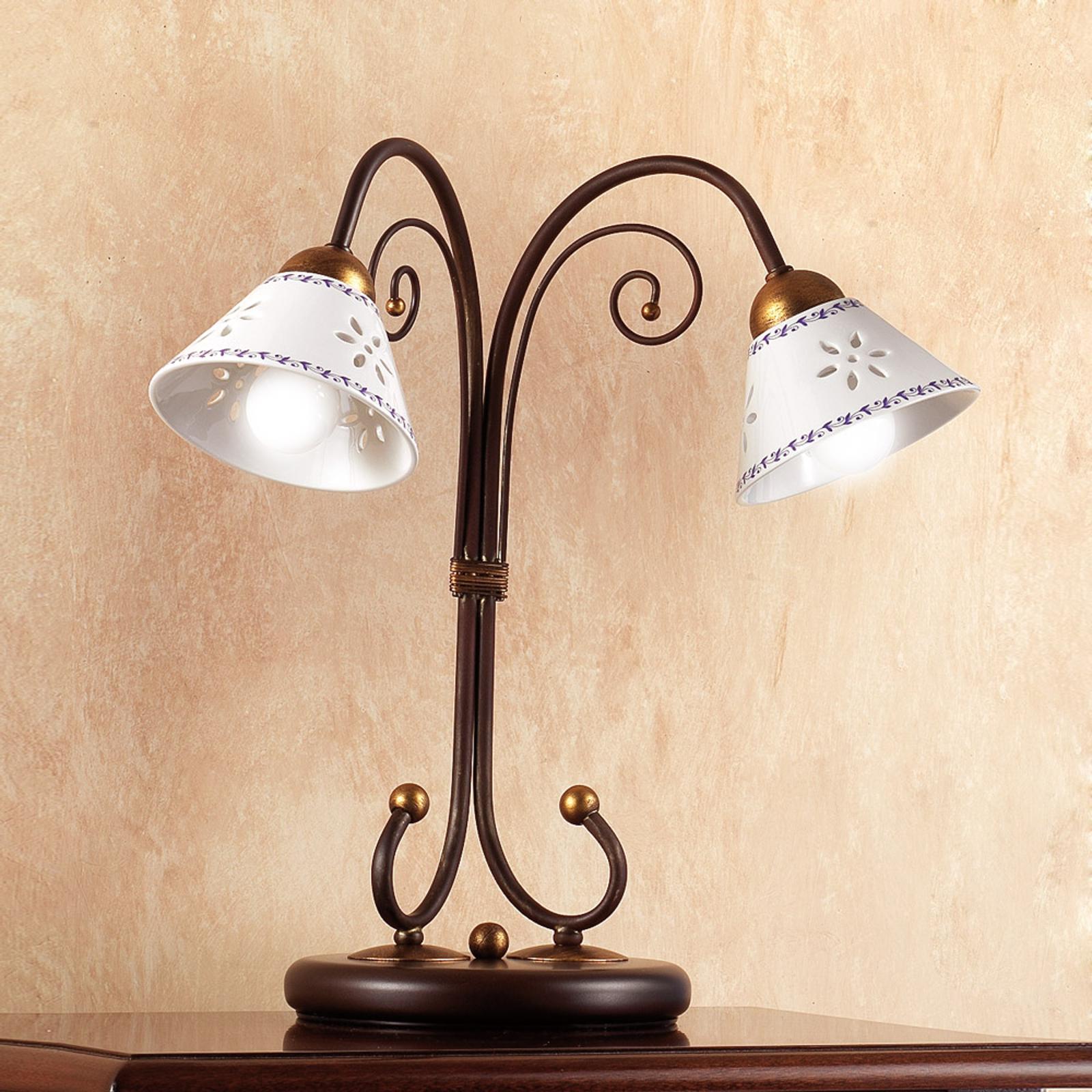 2-lichts tafellamp LIBERTY