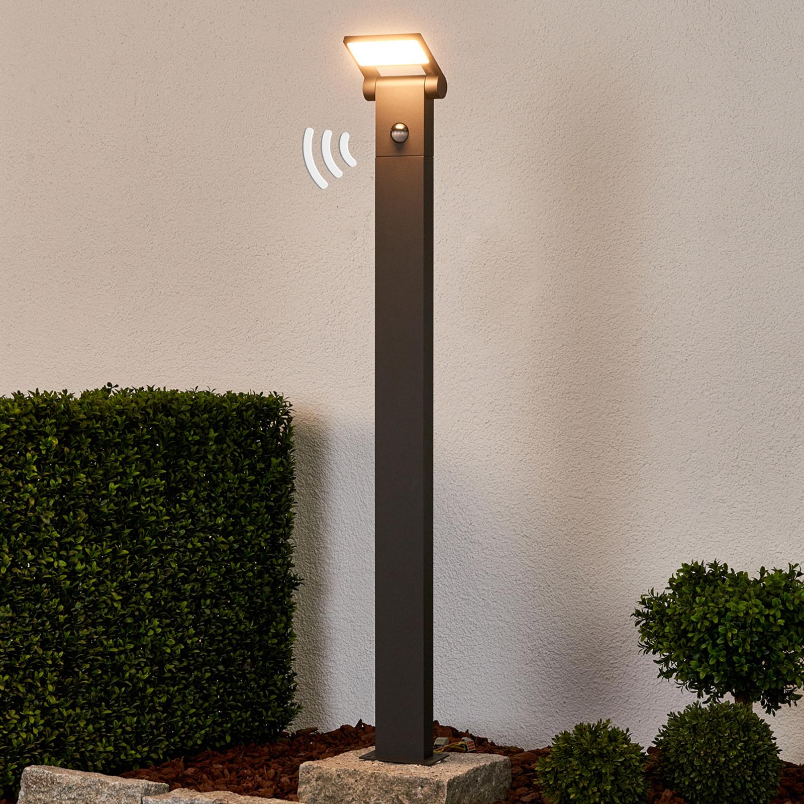 LED-Pollerlampe Marius mit Sensor, 100 cm