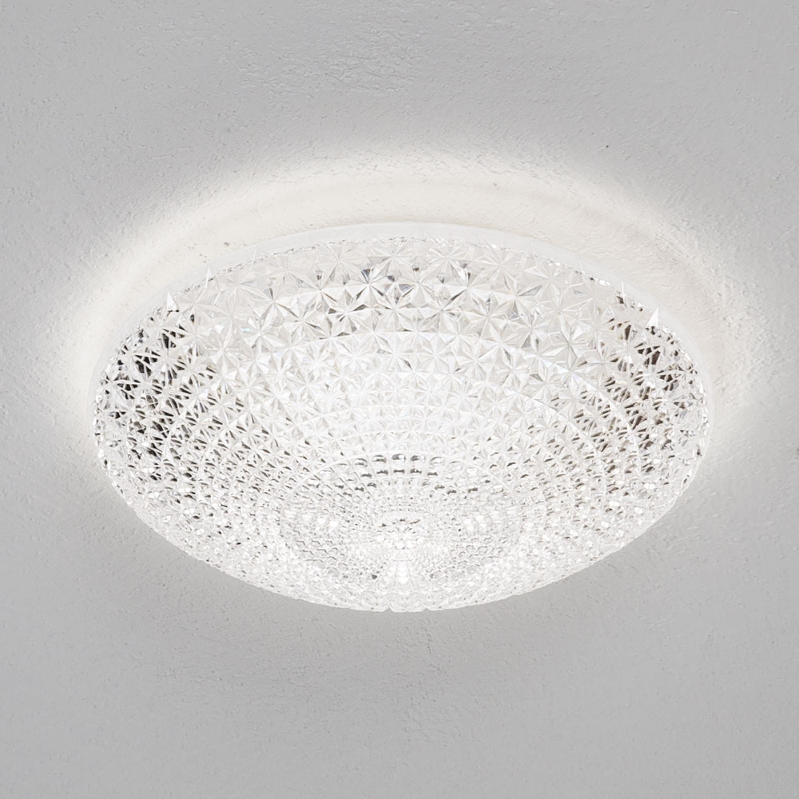 LED-taklampe Kuma formet som en halv skål