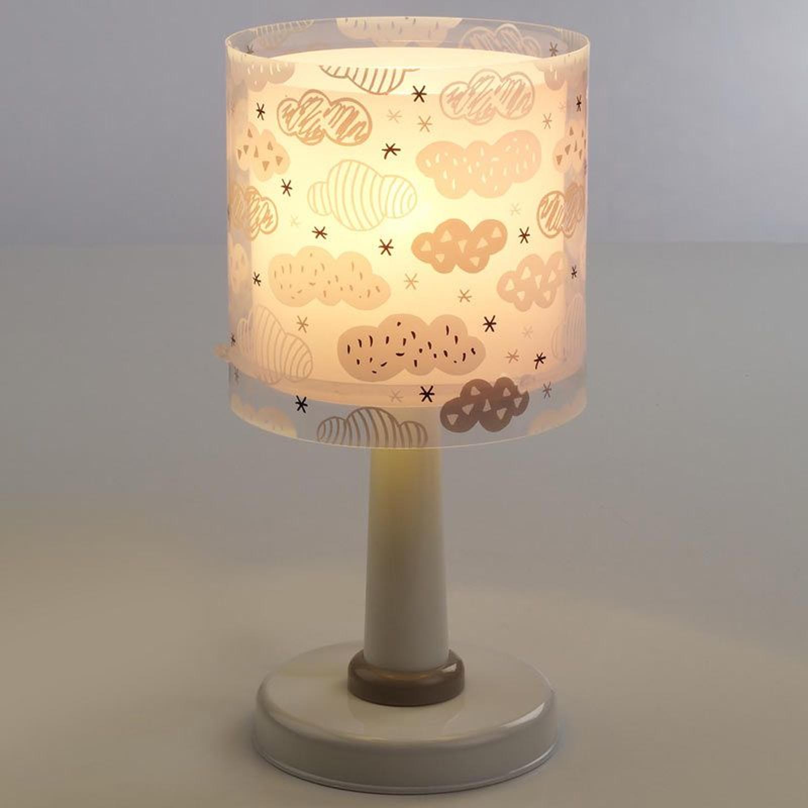Słodka lampa stołowa Clouds, różowa