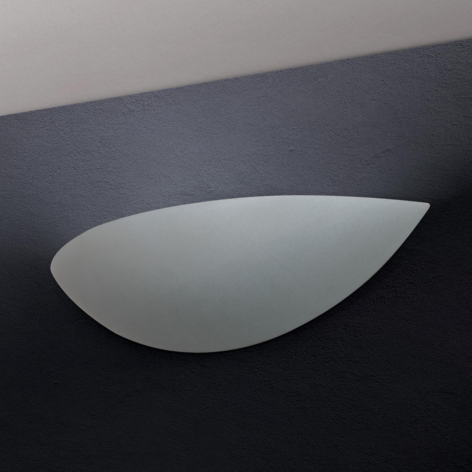 LED-vegglampe Gypsum, malbar, grå
