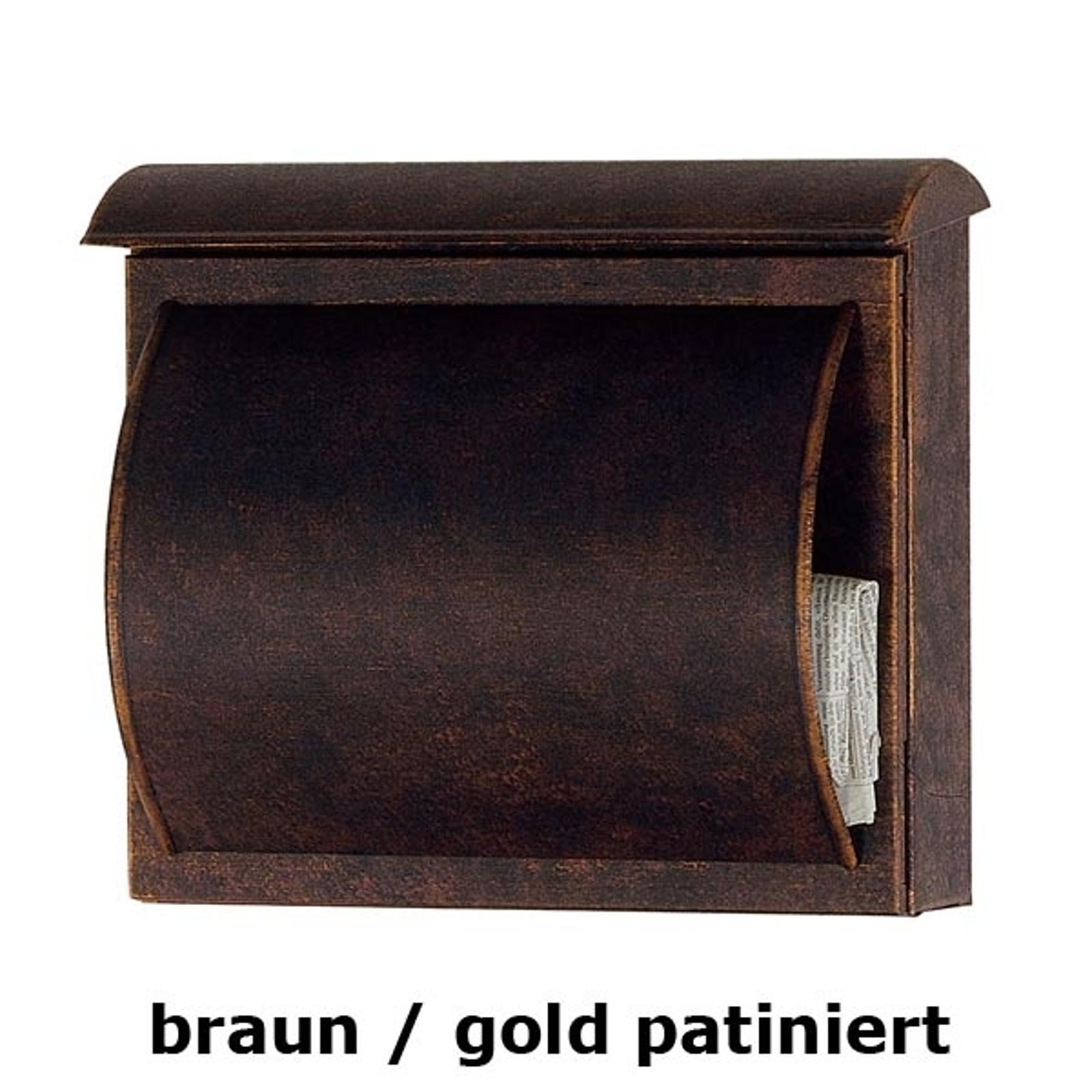 Buzón TORES marrón / dorado patinado