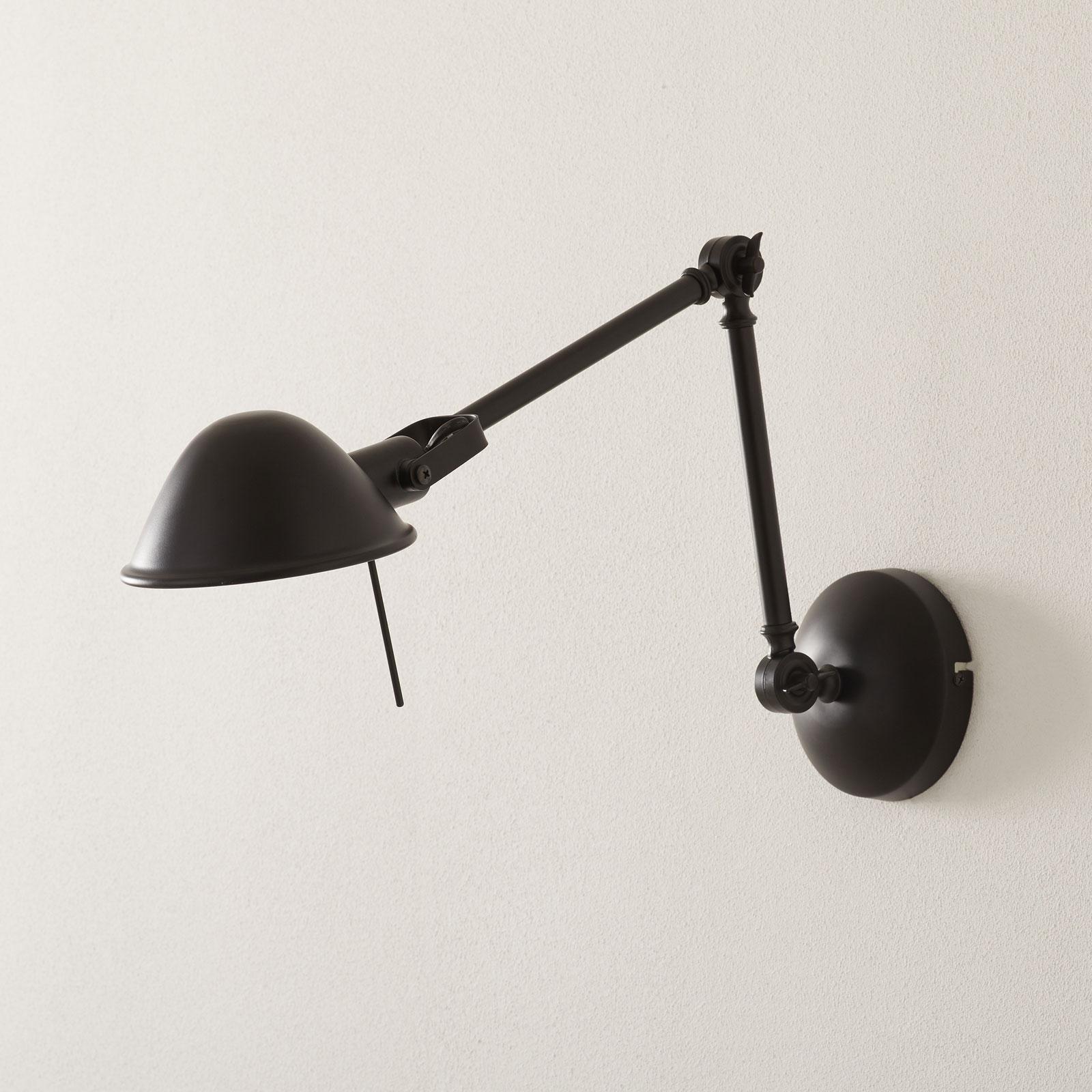 Flexibele wandlamp Torana in zwart