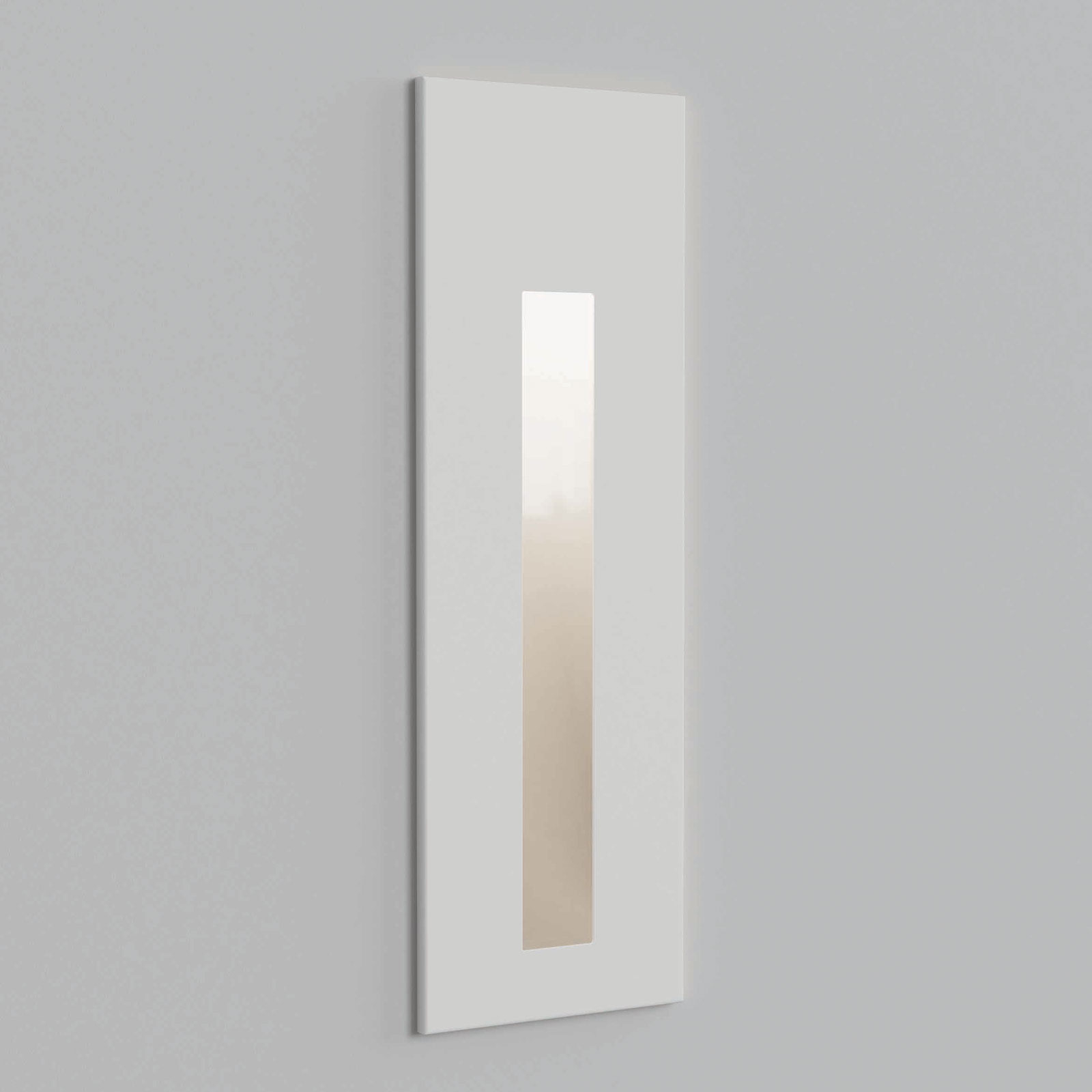 Astro Borgo 55 innfelt vegglampe, hvit tekstur