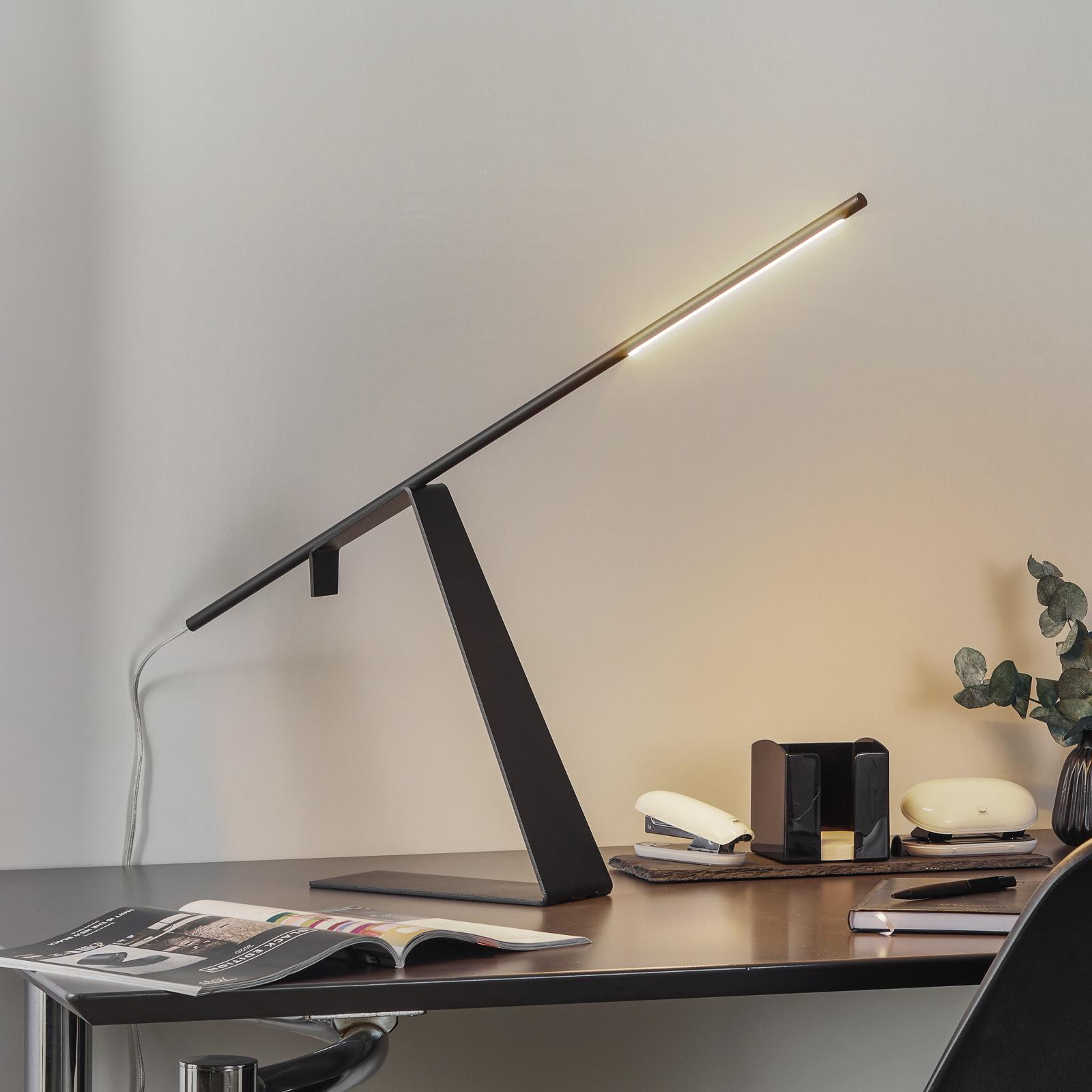 Svarta LED-design-bordslampan Jella