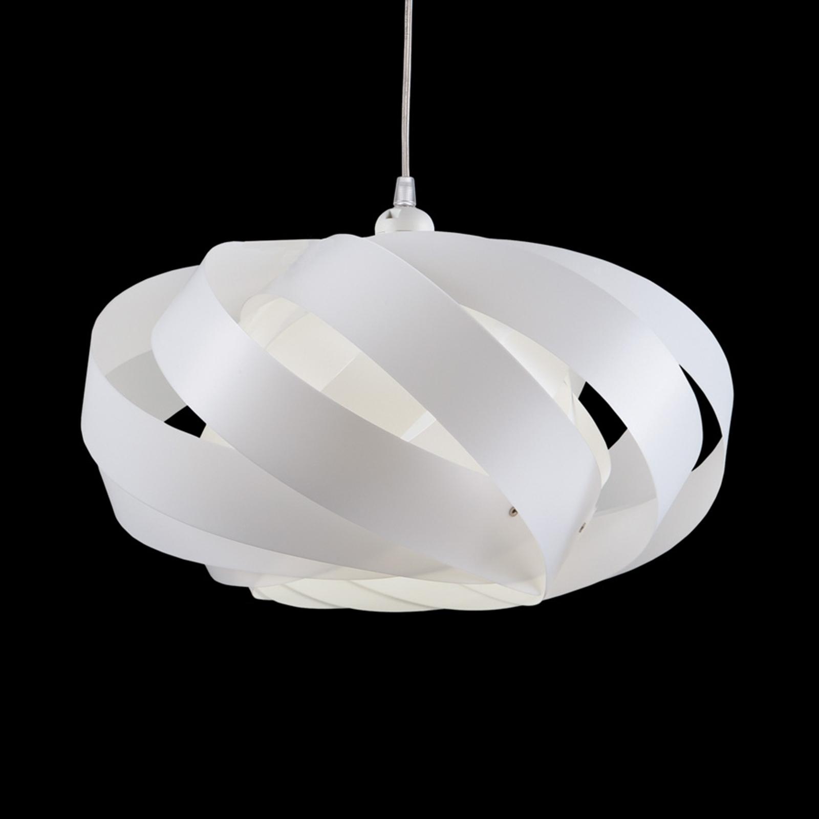 Wykonana z pasków lampa wisząca Mininest biała
