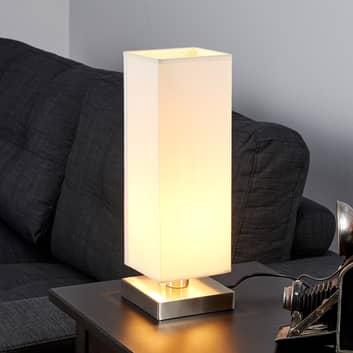 Vit bordslampa Martje med E14-LED-lampa