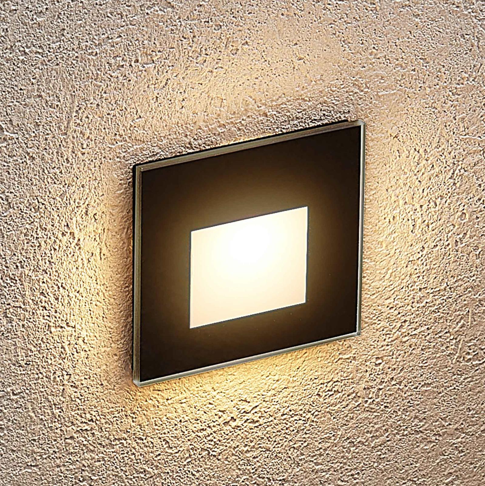 Archhio Vexi oprawa wpuszczana LED, kątowa, czarna