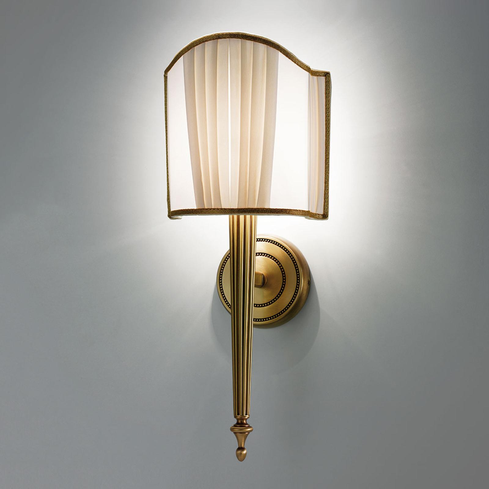 Lampa ścienna Belle Epoque stary mosiądz