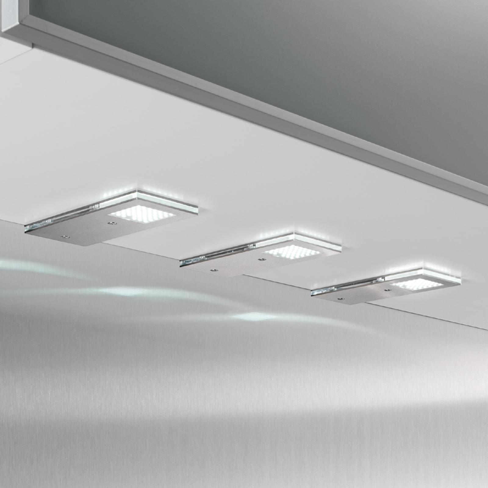 Pratica lampada LED da incasso Flat I, set da 3
