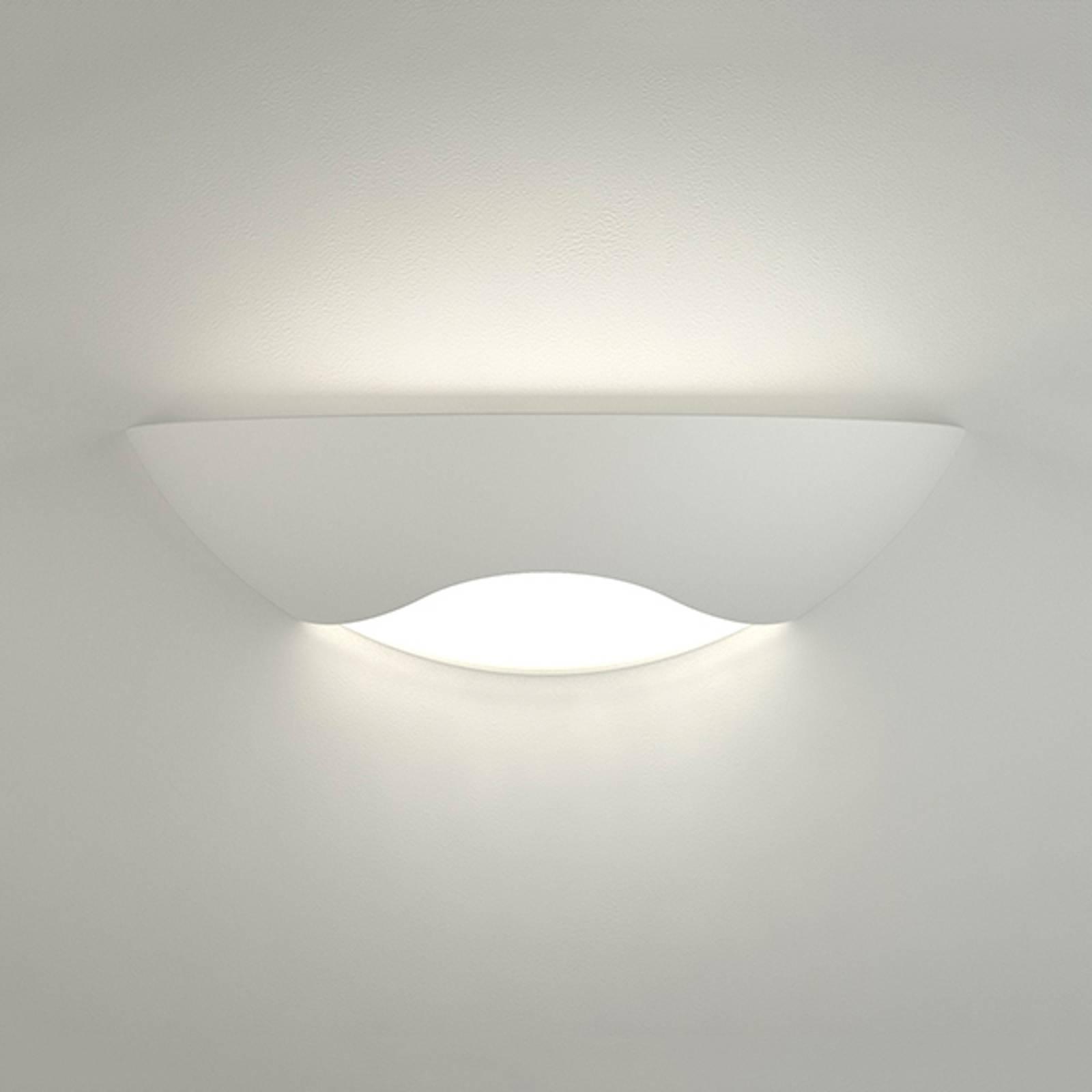 LED wandlamp Ambra uit keramiek halfrond