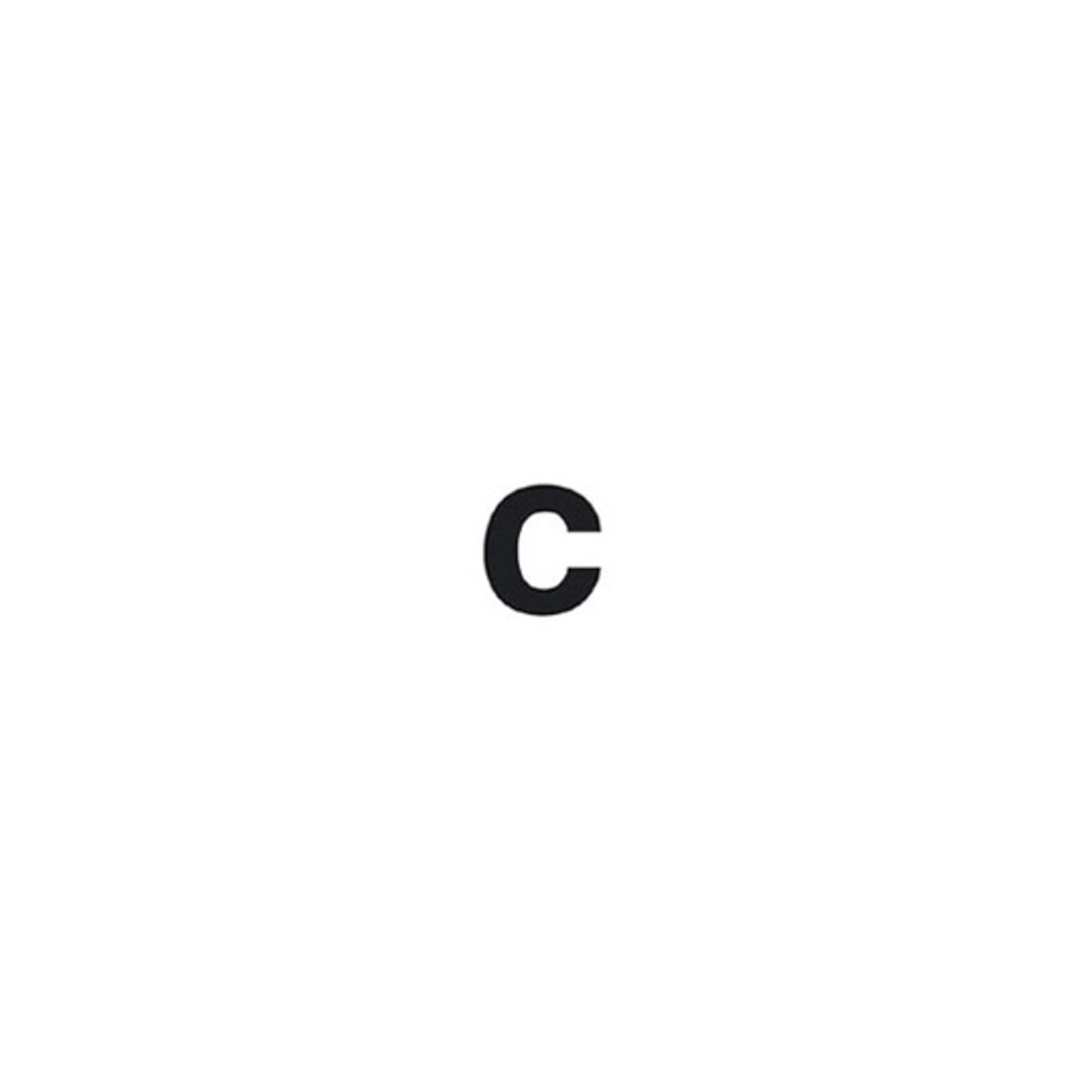 Selbstklebende Ziffer c