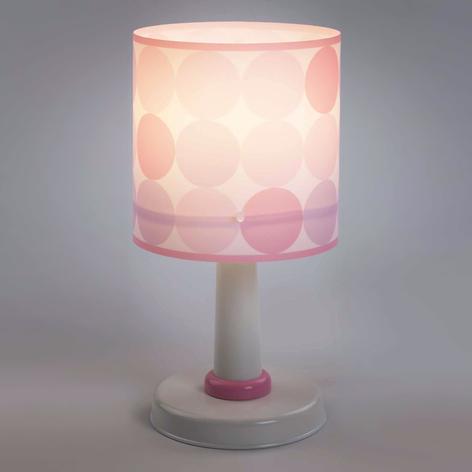 Colors - lampada da tavolo a pois, rosa