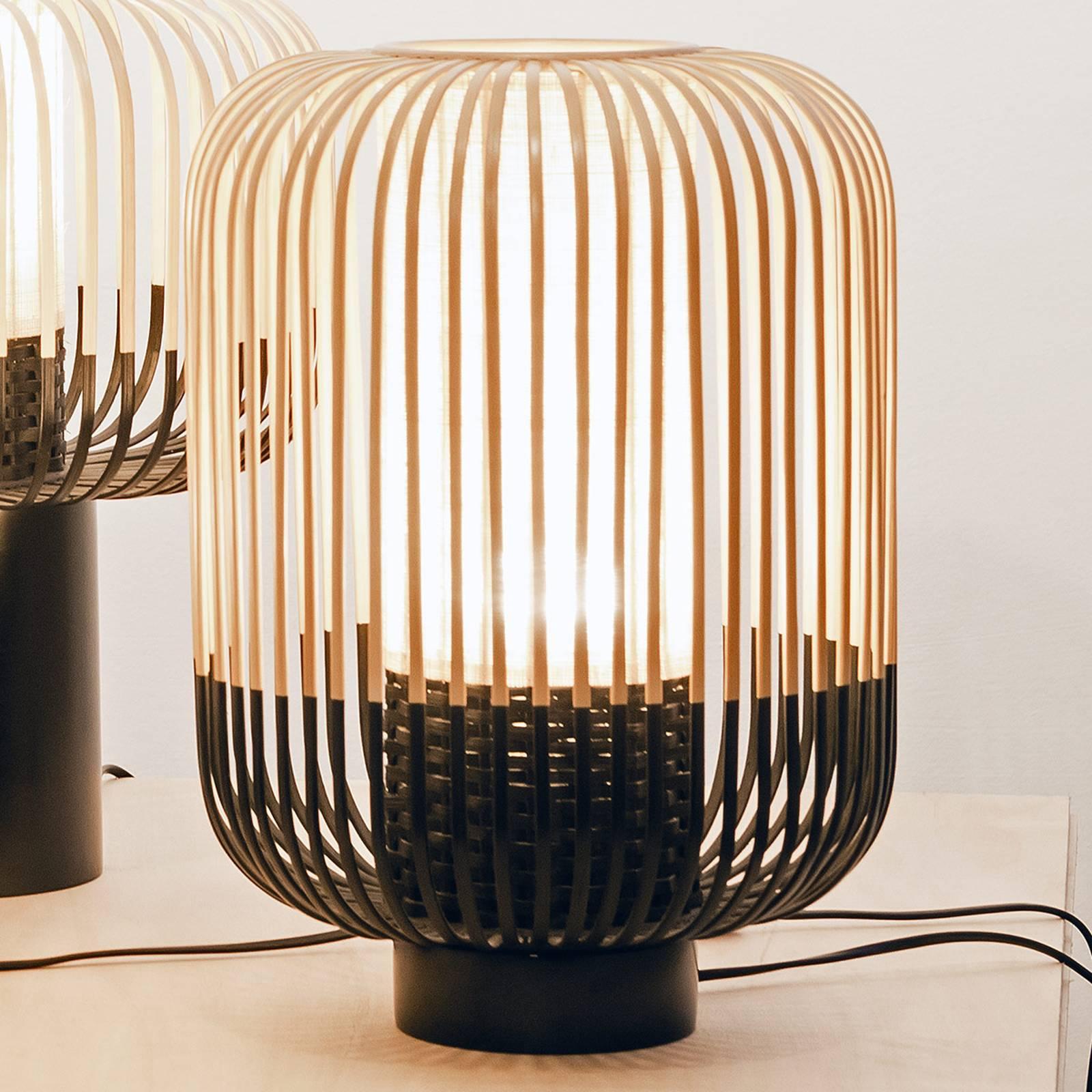 Forestier Bamboo Light M tafellamp 39 cm zwart