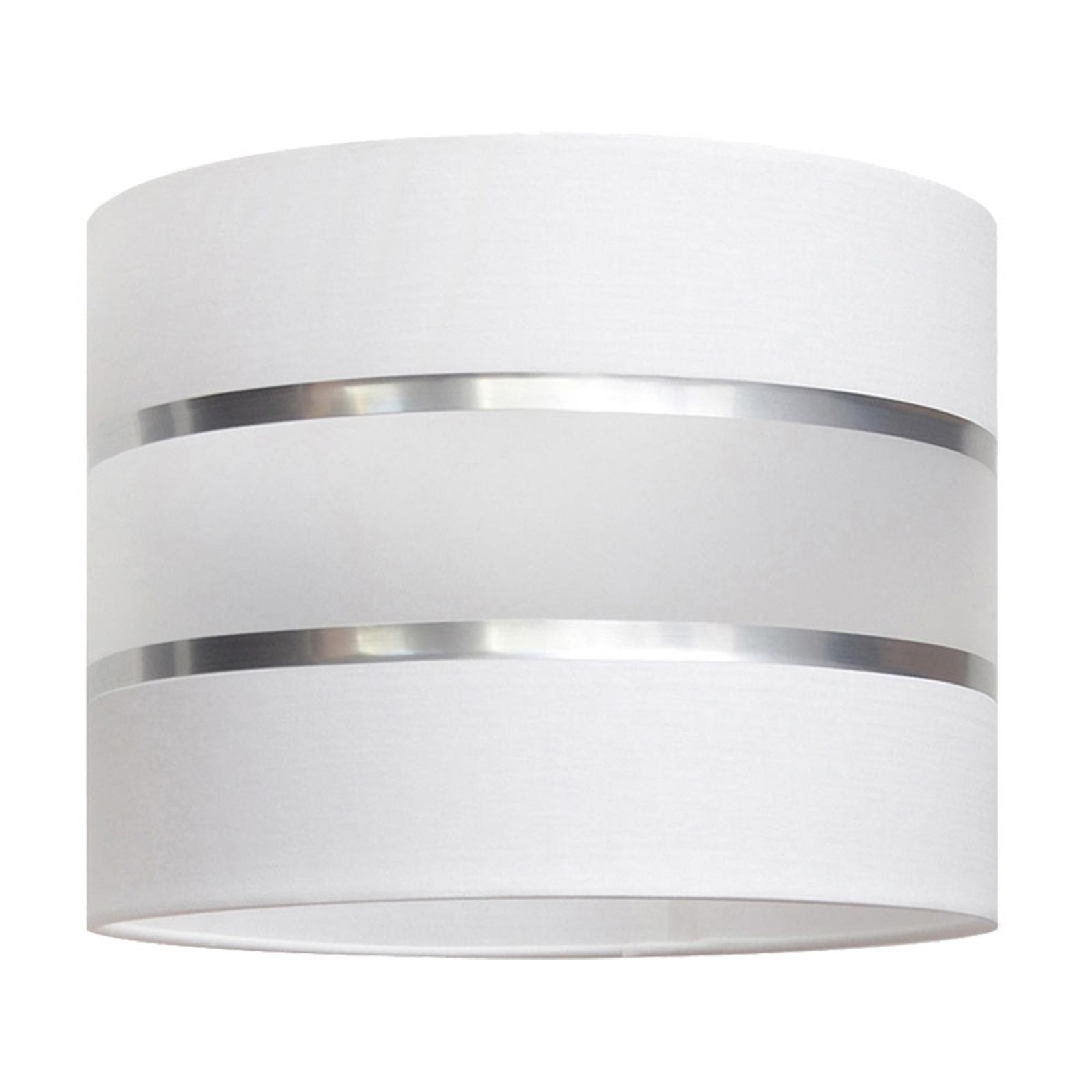 Lampenschirm Helen, Ø 20 cm, E27, weiß/silber