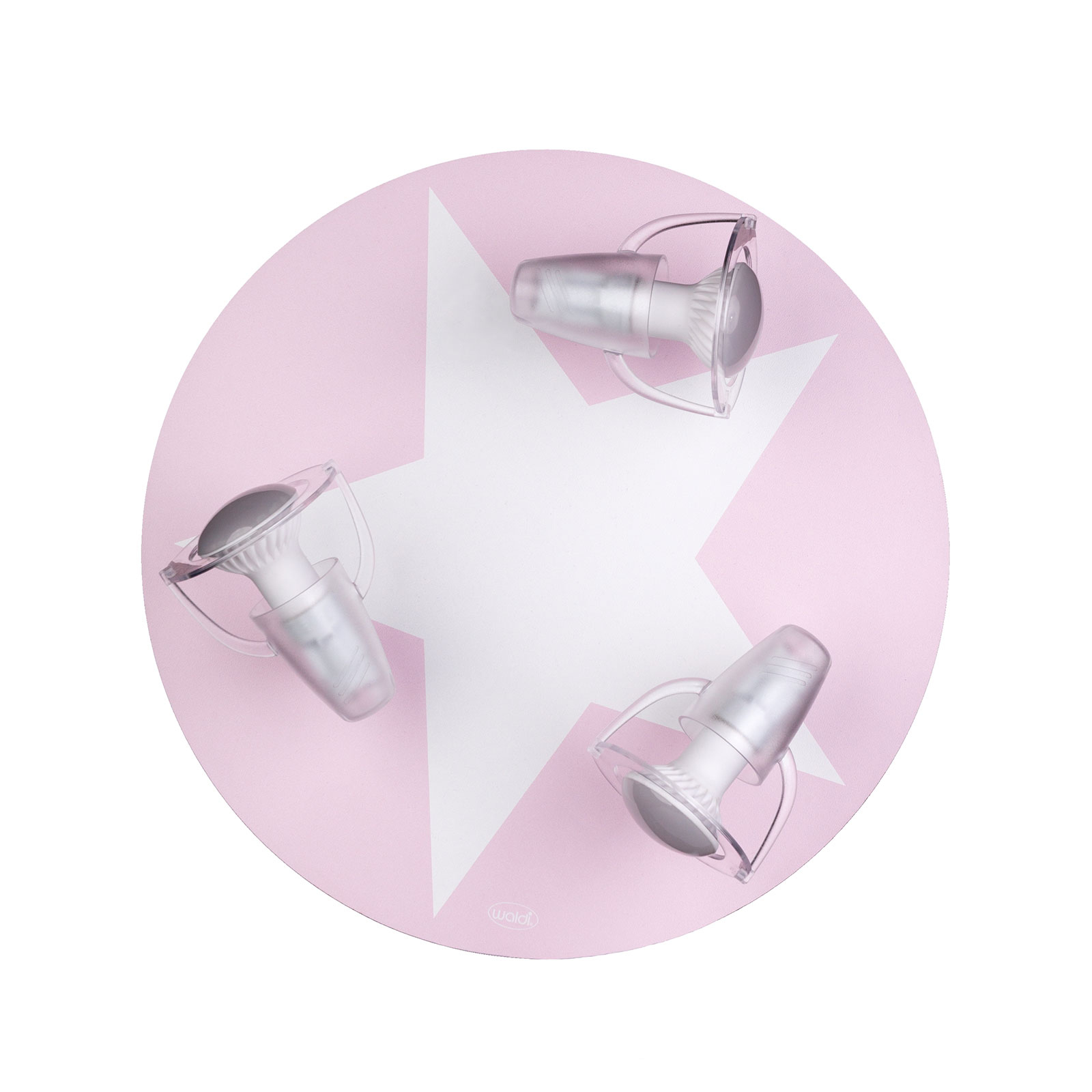 Plafonnier Étoile en rose