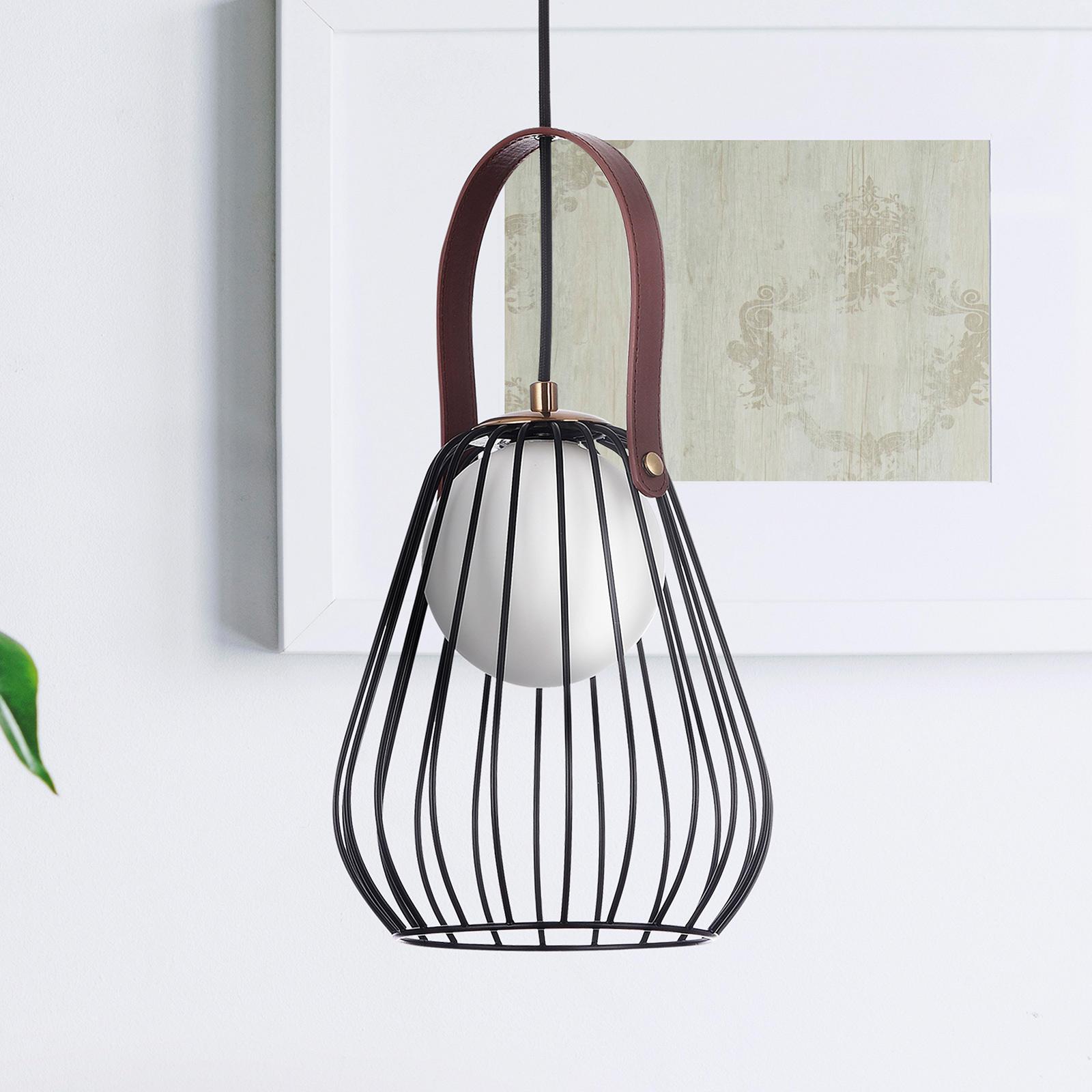 Hanglamp Indiana met kooikap zwart