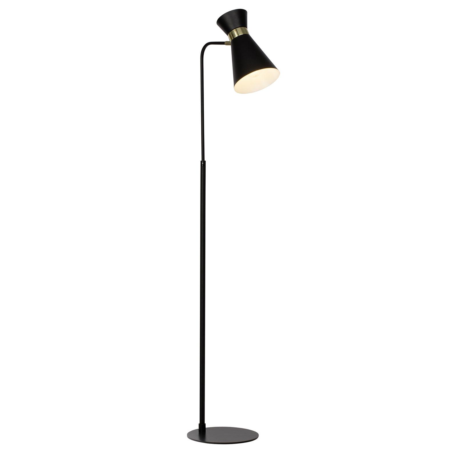 Vloerlamp Goldy, uit te lijnen