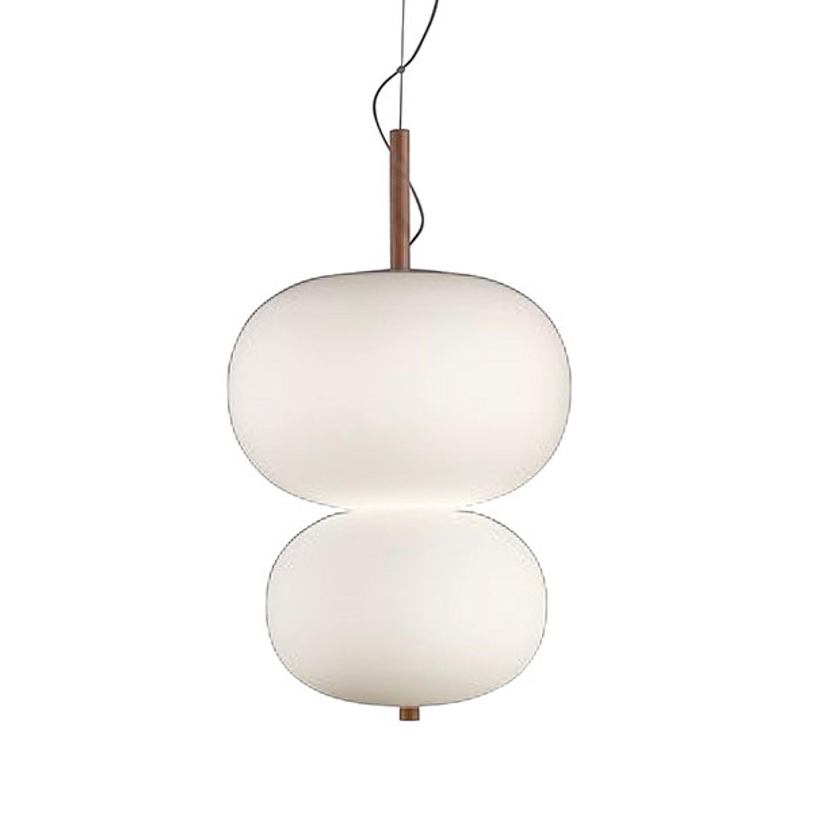 Grok iLargi lampa wisząca, wysokość 67 cm, jesion