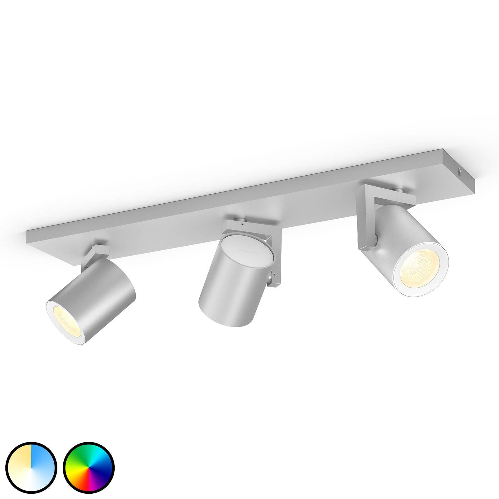 Philips Hue Argenta LED spot 3-lamps aluminium
